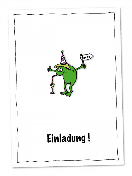 Postkarte Der Party-Frosch