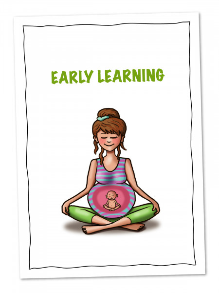 Postkarte Yogababy Early Learning